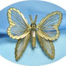 *Vintage Monet Goldtoned Wire Butterfly Brooch: Delicate Beauty to Perch on Your Shoulder!
