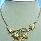 *Vintage Karen Lynne 12K GF Necklace: Dainty Leaves and Beautiful Chain