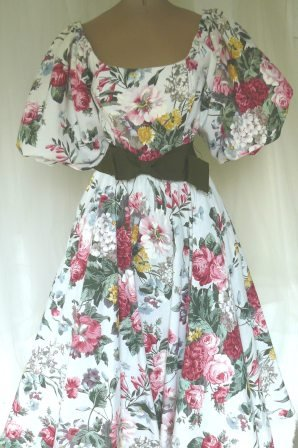 Vintage Victor Costa Party Dress, Shades of an English Garden, Classic Look!