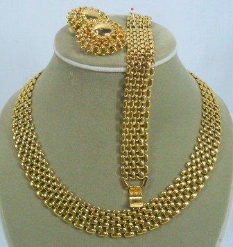 Goldtone Premier Necklace, Bracelet, & Earrings,  Classic Design