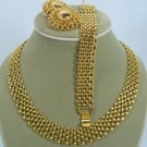 Goldtone Premier Necklace, Bracelet, & Earrings,  Classic Design