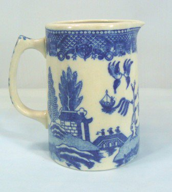 Blue Willow Medium Sized Vintage Pitcher, Unmarked