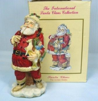 "US Santa Claus, International Collection, 1992, 4-1/2"" Tall, MIB"