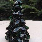 Handmade Emerald Green ART Glass GREEN TREE Figurine Christmas **BEAUTIFUL**