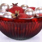 Large FENTON Art Glass RUBY RED EDGEWOOD Zipper BOWL New in Box