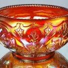 FENTON Art Glass Roses ROSEBOWL Ruby Red CARNIVAL NICE