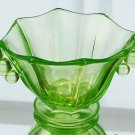 FENTON Art Glass CANDY NUT Panel BOWL VASELINE GREEN