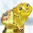FENTON Glass HandPainted PIG Figurine Buttercup Yellow Colorful Life 5220ZZ