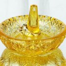FENTON Art Glass RING HOLDER Jewelry Buttercup Yellow New in BOX