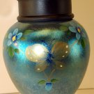 FENTON Art Glass FAVRENE Hand Painted Butterfly Signed TEMPLE JAR new in BOX