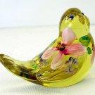 Fenton Art Glass Buttercup Yellow Figurine HandPainted Signed 5363 Songbird NIB