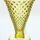 FENTON Art Glass HOBNAIL Flare VASE BUTTERCUP YELLOW NEW in BOX