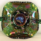 FENTON Carnival Glass BUTTERFLY Handled BonBon BOWL ~ New in BOX Emerald Green