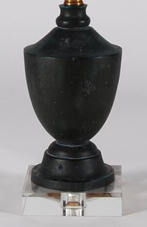 16 Quot High Regina Andrew Small Transitional Black Washed Urn