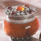 Jeweled-Lid Jar Candles (Rose)