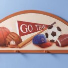 Wooden Sports Fan Coat Hanger