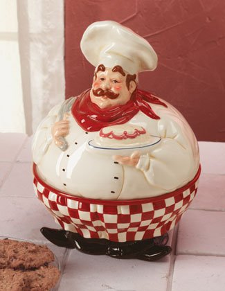 Chef Cake Plate With Bowl