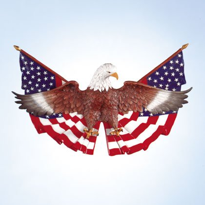 Eagle and Flag Wall Plaque