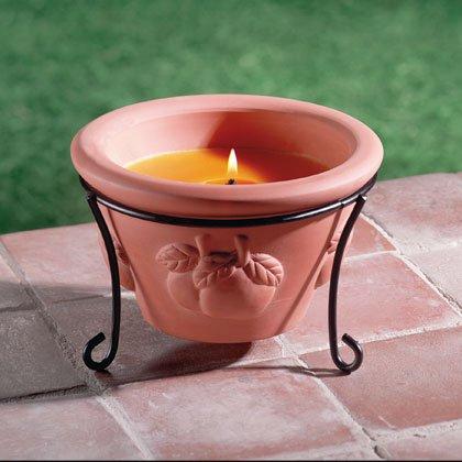 Terra Cotta Garden Candle