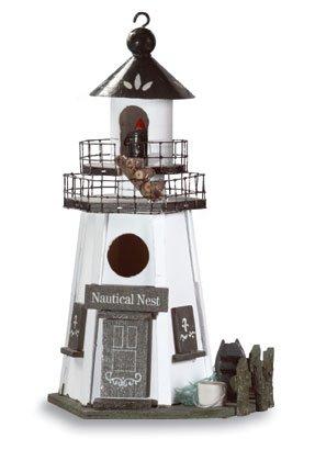 Wood Lighthouse Birdhouse