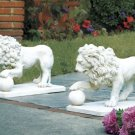 Statley Lion Statue Duo