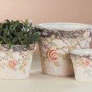Terra Cotta Nesting Flower Pot Trio