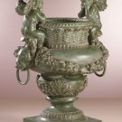 Antiqued Bronze Finish Cherub Urn