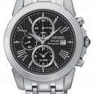 New Seiko SSC193 Le Grand Sport Men's Solar Stainless Steel Chrongraph Watch