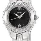 Seiko Women's SXGN15 Diamond Accented Black Dial Stainless Steel Watch $425