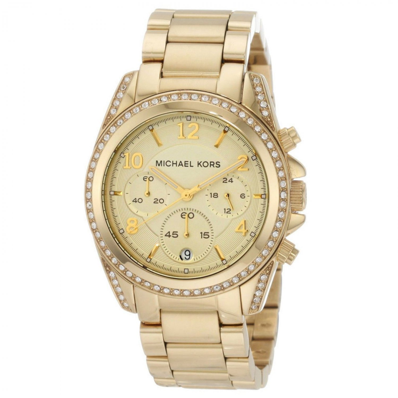 NEW Micheal Kors MK5166 Women's All Gold Runway Glitz Collection Fashion Watch