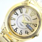 Vintage citizen ladies watch gold tone gold dial day & date .