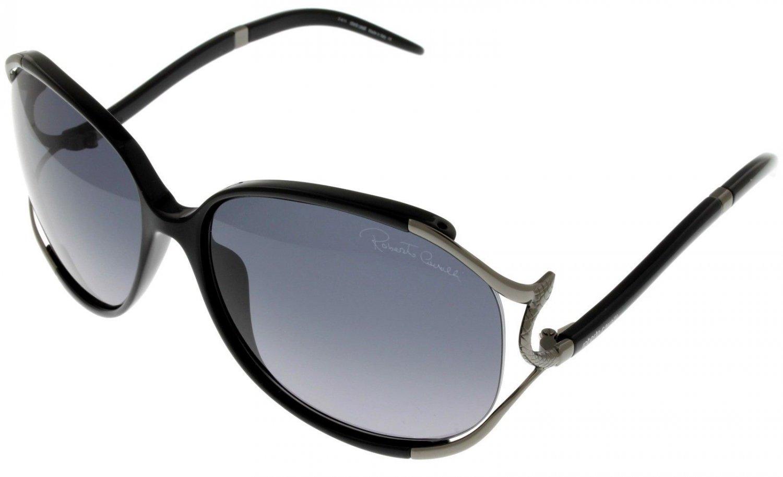 Roberto Cavalli Sunglasses Women Black Ruthenium Oversized RC530S 01B