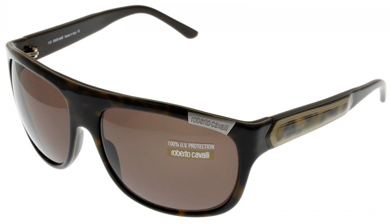 Roberto Cavalli Sunglasses Unisex Dark Brown Fashion Rectangular RC388S 844
