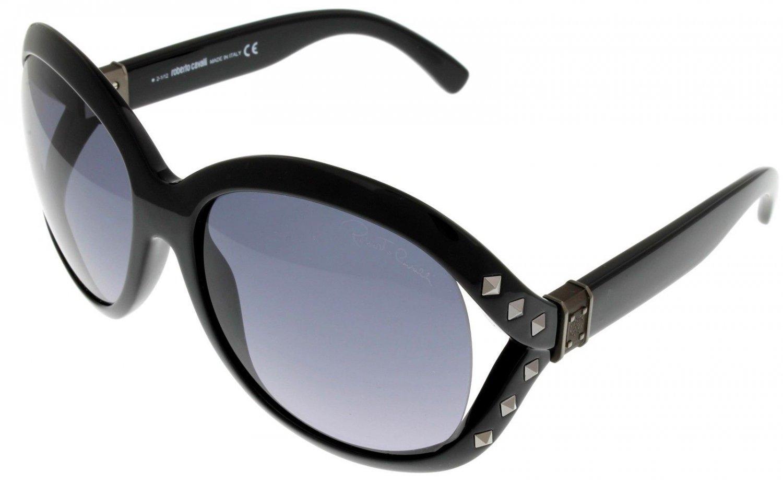 Roberto Cavalli Sunglasses Women Black RC598S6 01B Square Fashion