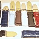 Wholesale Lot Of  12 NEW Mens Leather Watch Bands 2-26MM 9 -22MM 1 rubber 22 mm