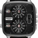 Diesel DZ7302 Men's Hal Multi-Time Black Genuine Leather Black Dial Watch