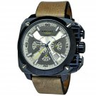 Diesel Men's DZ7342 BAMF Brown Leather Band & Stainless Steel Chronograph Watch