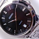 Seiko Men's Mid Size Watch Stainless Steel Band / Black Dial SFWV33P1 BRAND NEW!