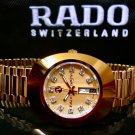 New Rado Diastar R12413493 Automatic Gold Plated Swiss Men's Wrist Watch .