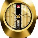 New Rado Diastar R12413343 Automatic Gold Plated Swiss Men's Wrist Watch .