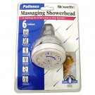 POLLENEX 6-SETTING CHROME SHOWER HEAD