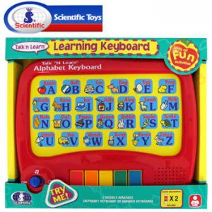 SCIENTIFIC® TOUCH AND LEARN ALPHABET KEYBOARD