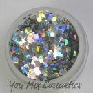Silver Holo Square Glitter (1/2 oz container)