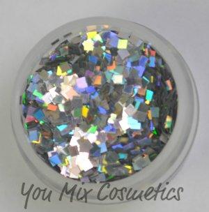 Silver Holo Square Glitter (1 oz container)