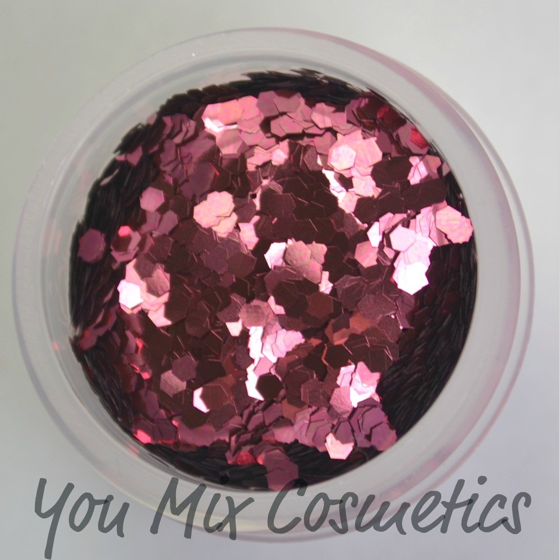 Large Rose Pink Glitter (1/2 fl oz container)