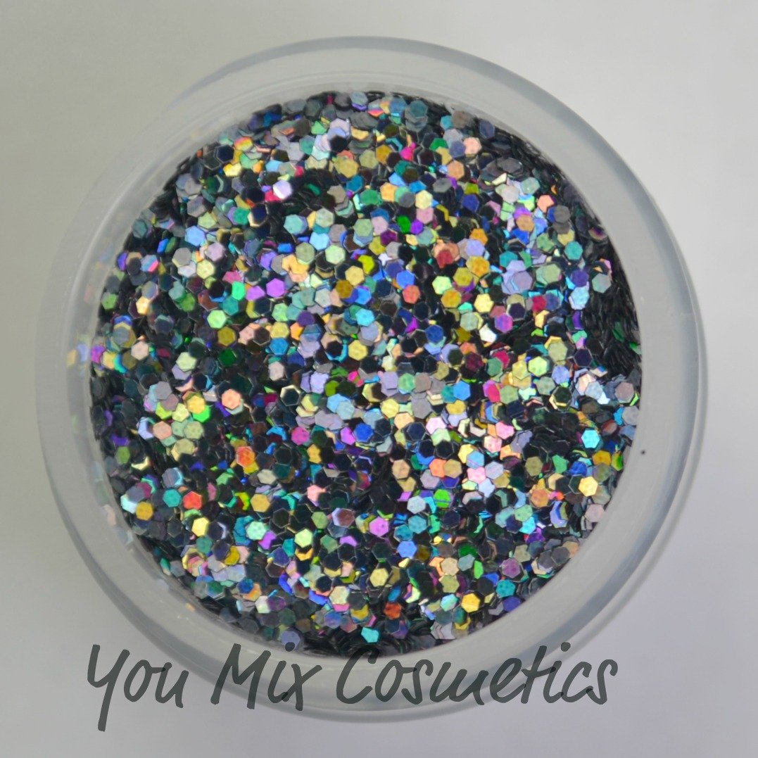 Small Black Holo Glitter (1/4 fl oz)