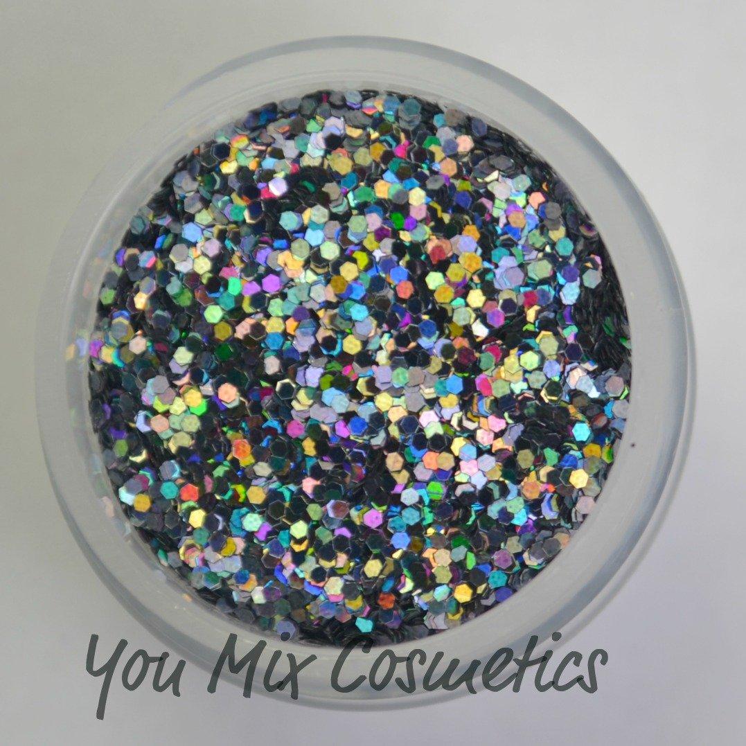 Small Black Holo Glitter (1/2 fl oz container)