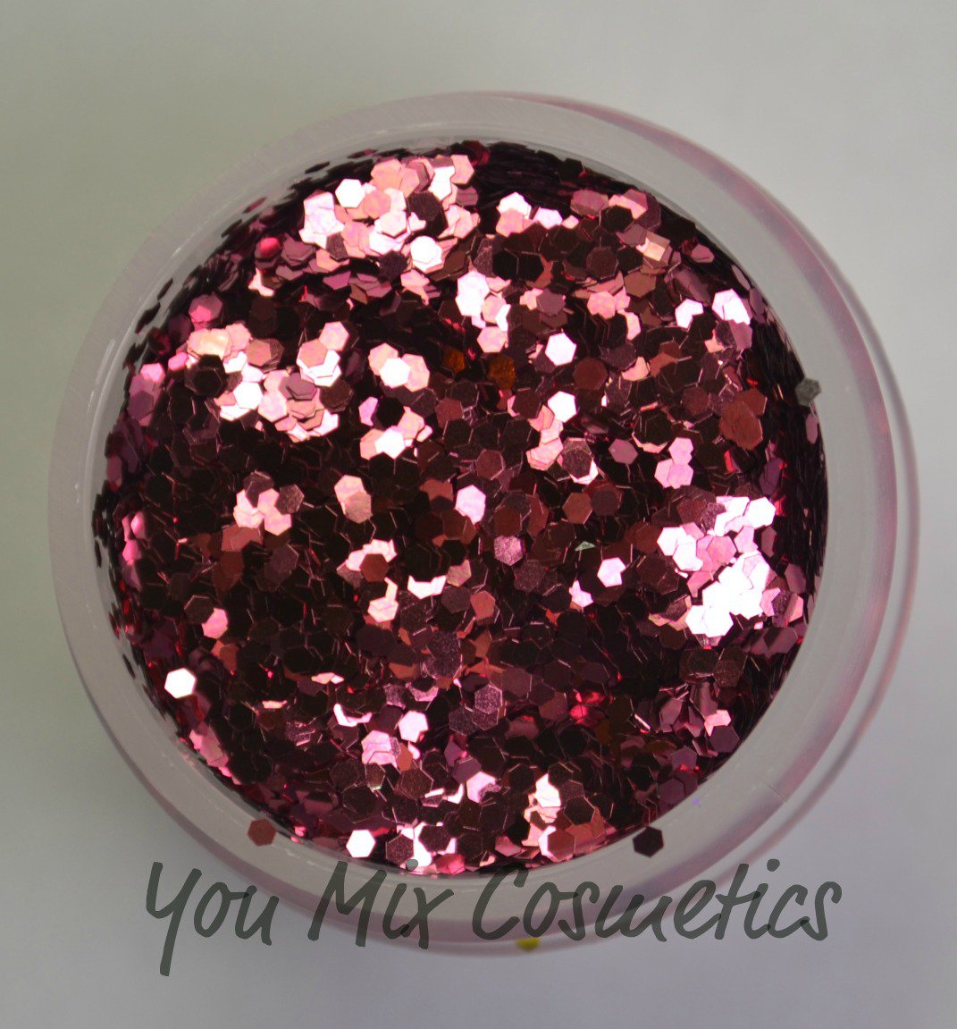 Small Rose Pink Glitter (1 fl oz container)
