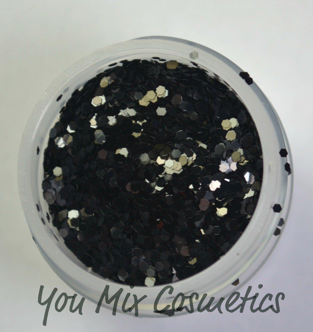 Small Black Glitter (1 fl oz container)