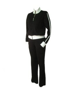 ONTA 2 PC Black Athletic Track Outfit Set Sz Small